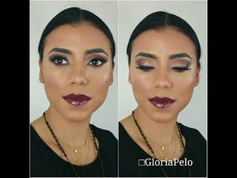 Brown Glitter Soft Smoky Eyes Tutorial – Full Face (Maquillaje en Cafes Ahumado con Mireyas)