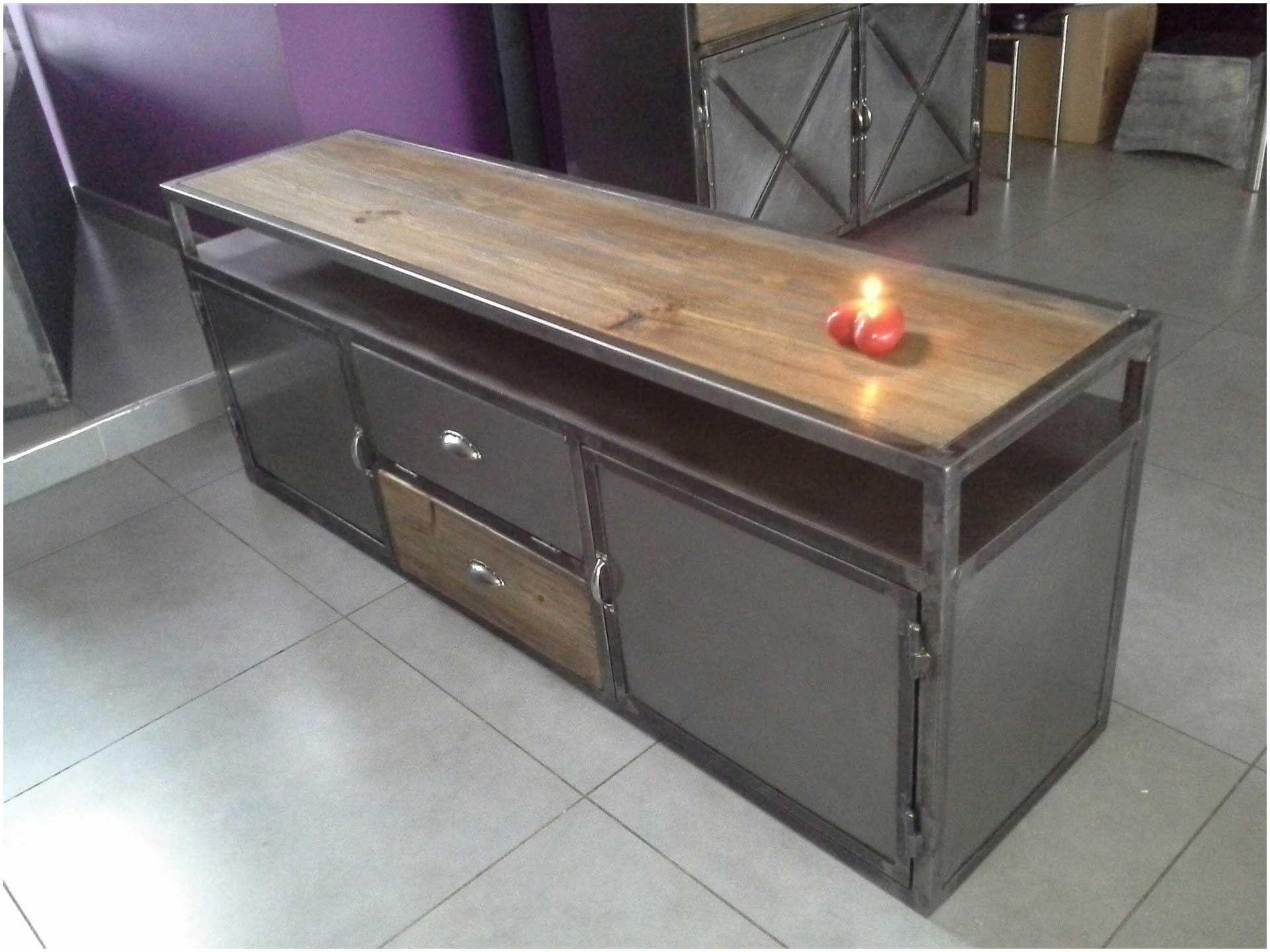 meuble tv bois metal pas cher meuble tv