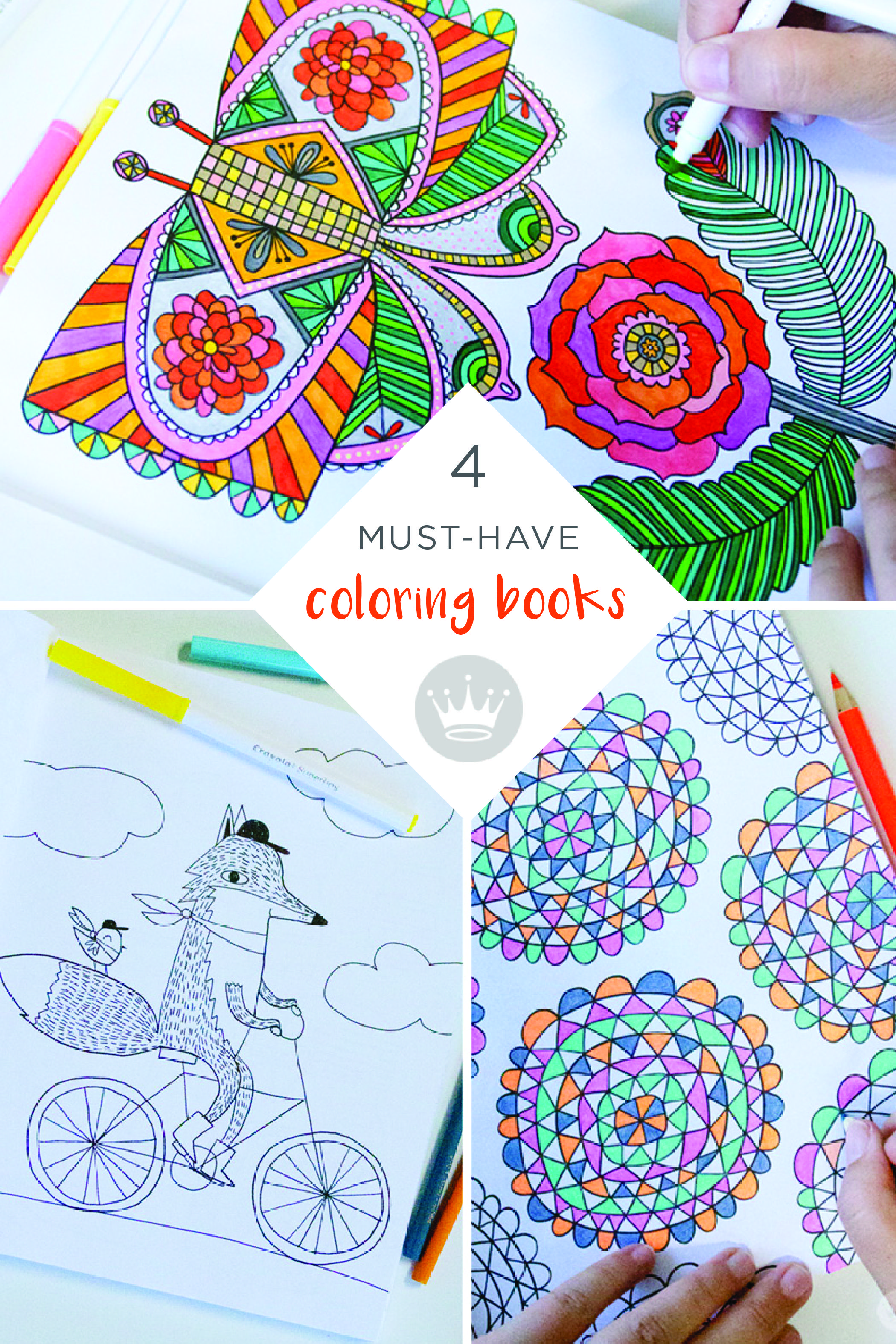 Get Creative With These Adult Coloring Books Original Art Work For Grown Ups By Hallmark Crayola