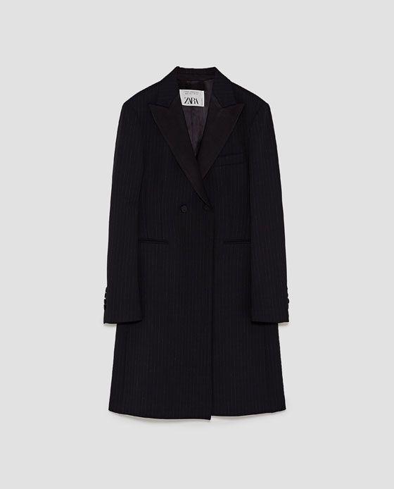 zwarte mantel jas dames zara