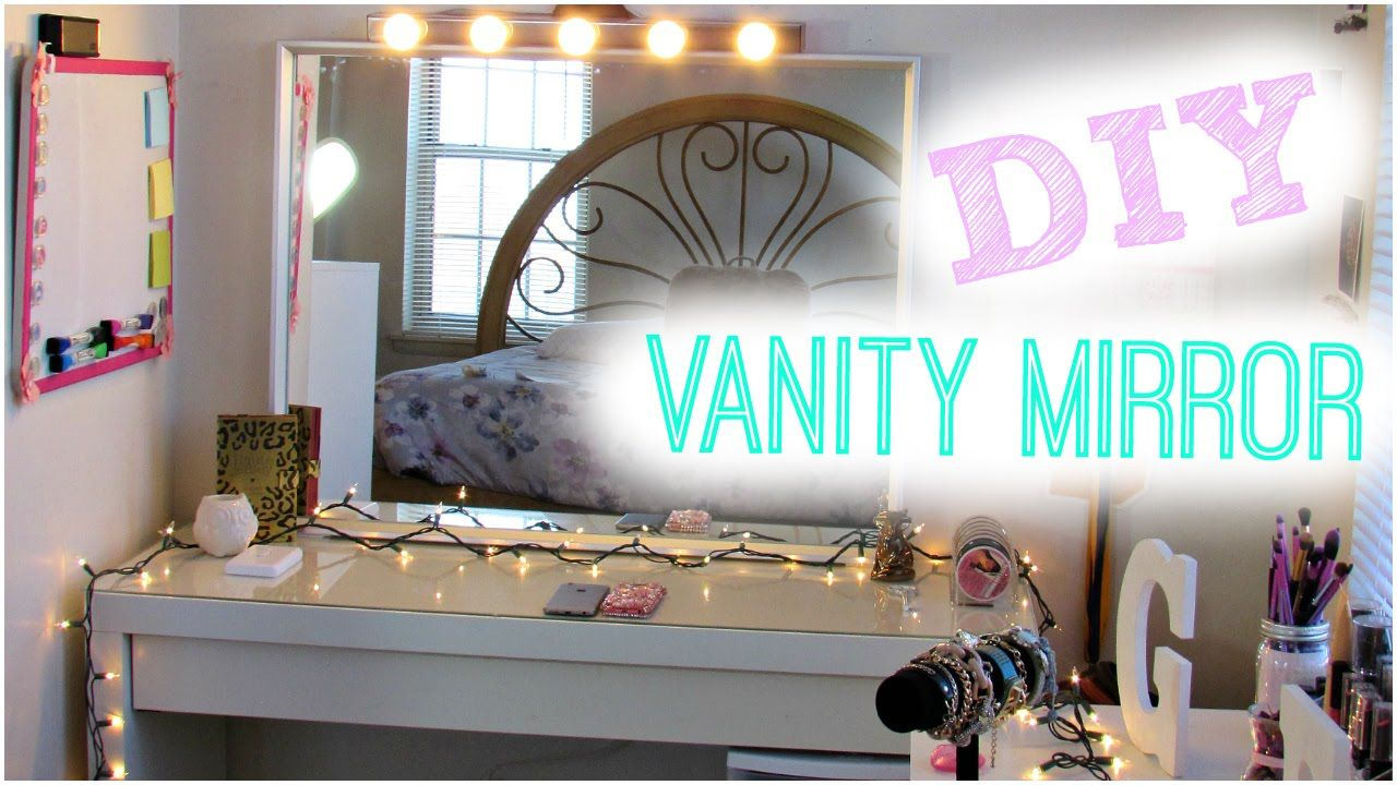 Diy hollywood vanity light mirror diy room decor easy for Mirrors for teenage rooms