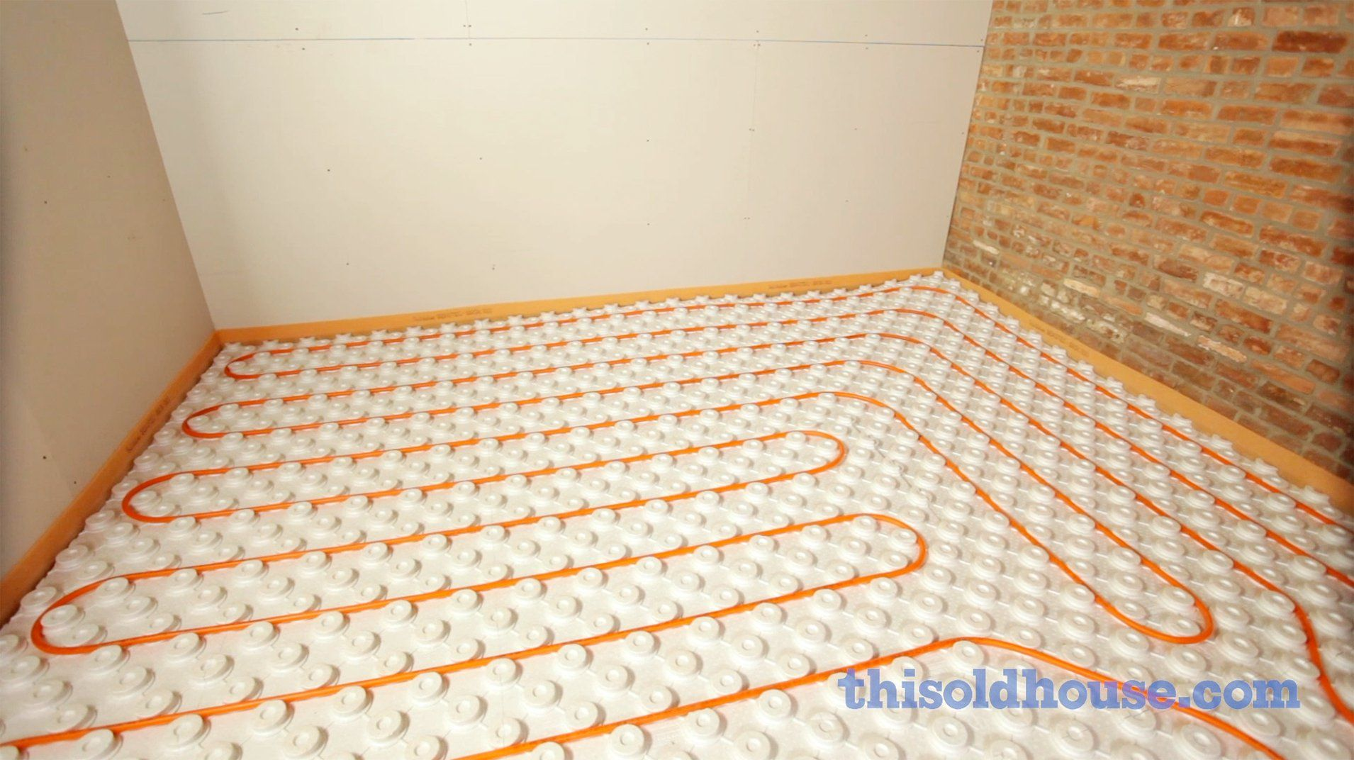 panels id in radiant putting a heat part floor bus heated