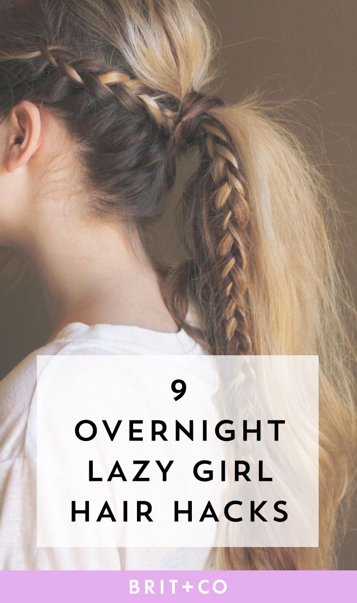 Save these quick easy lazy girl overnight hair hacks for the next