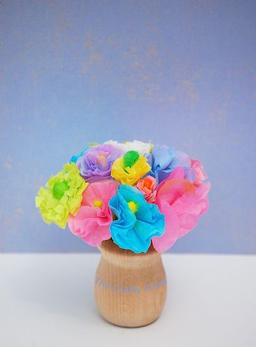 Q Tips Craft Miniature Spring Flowers Things To Make And Do