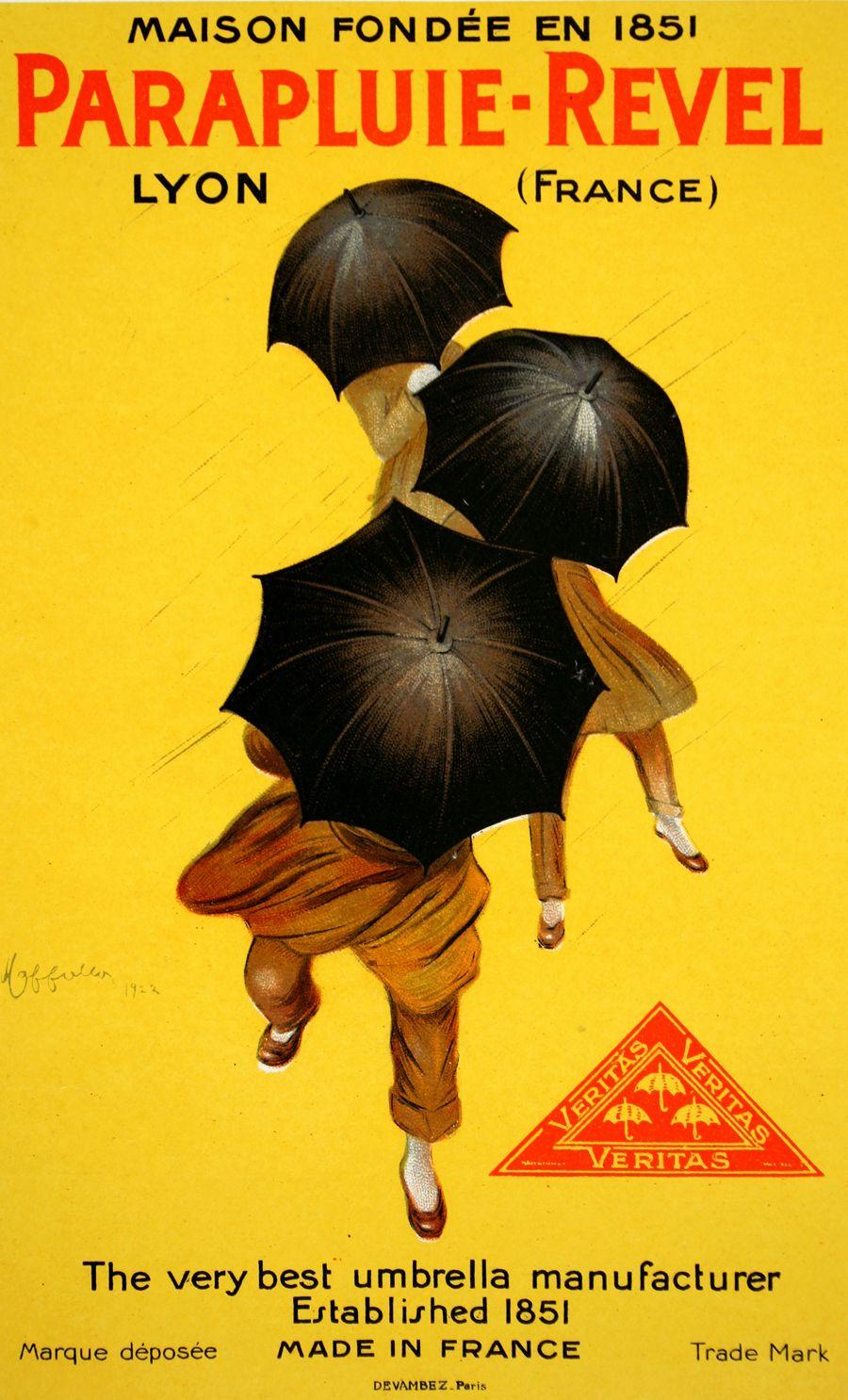 """Parapluie-Revel"" Italian Advertising Poster by Leonetto Cappiello"