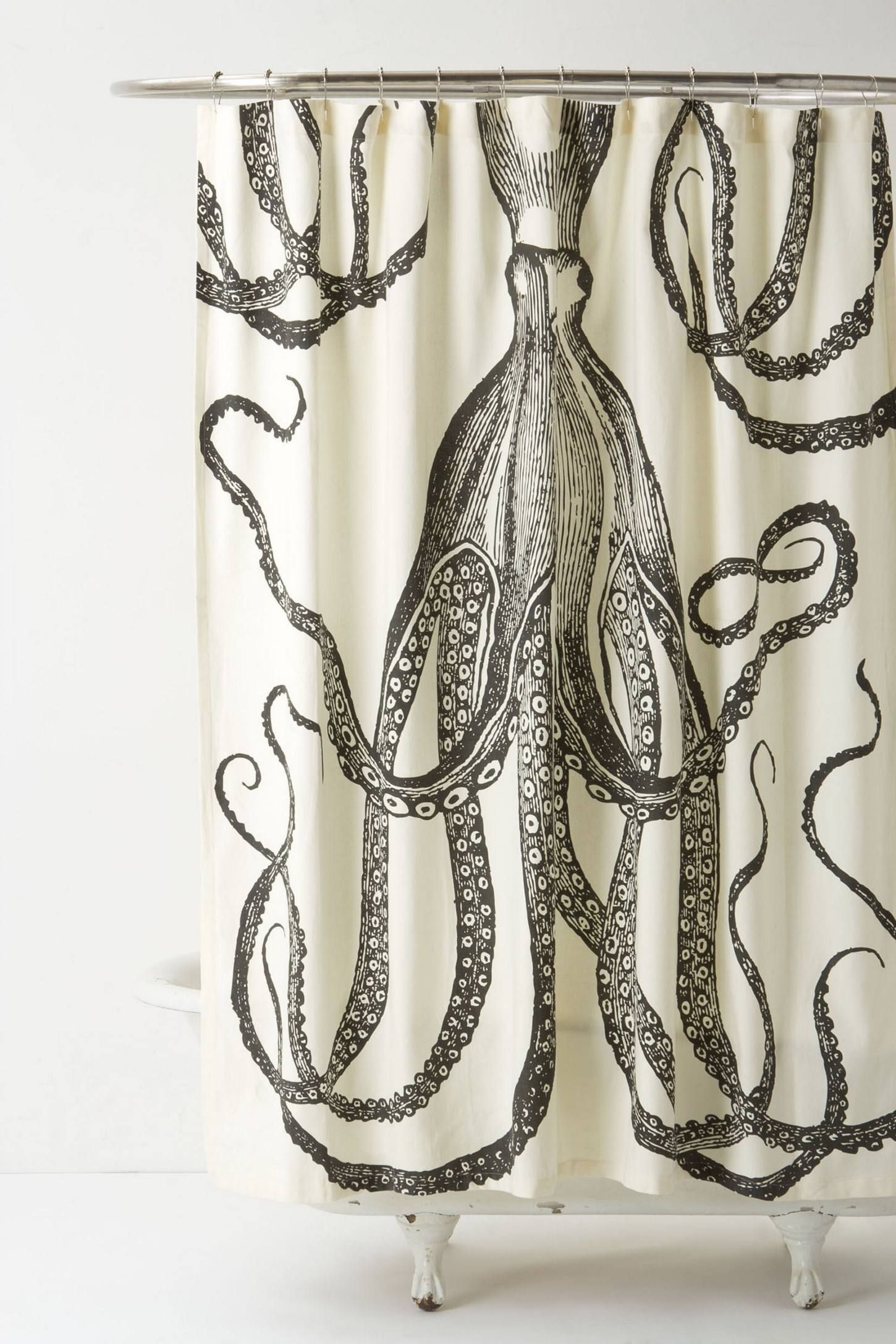 Octopus Garden Shower Curtain Unique Shower Curtain Octopus