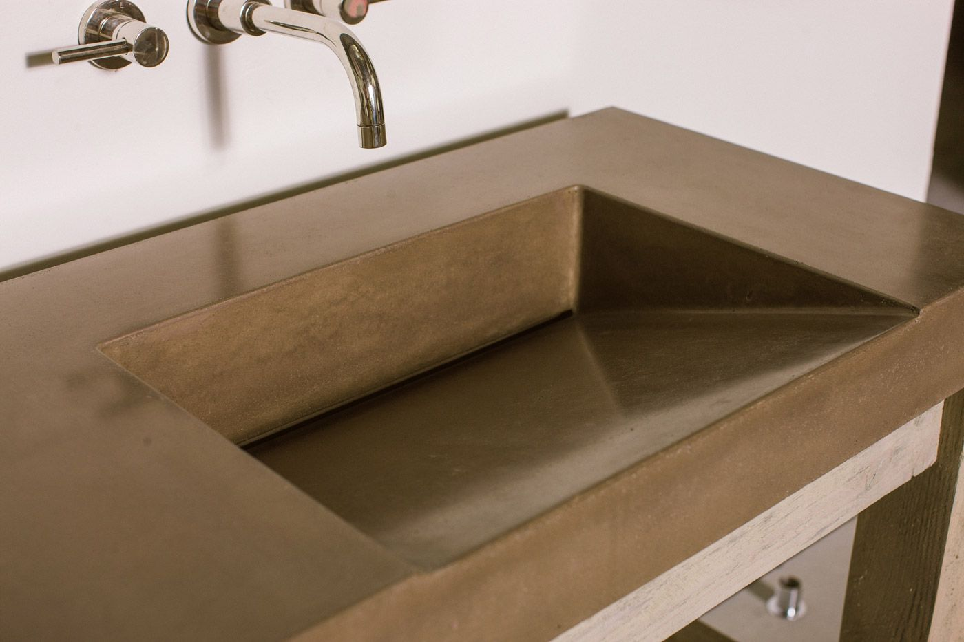 Gradient Sink Concrete Wave Design Concrete Countertops