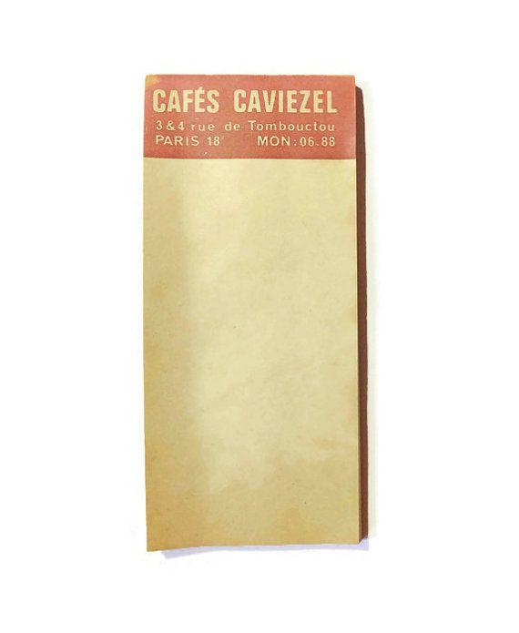 Sorry, this item is sold.  1950s Paris café note book by ParisSouvenirs on Etsy