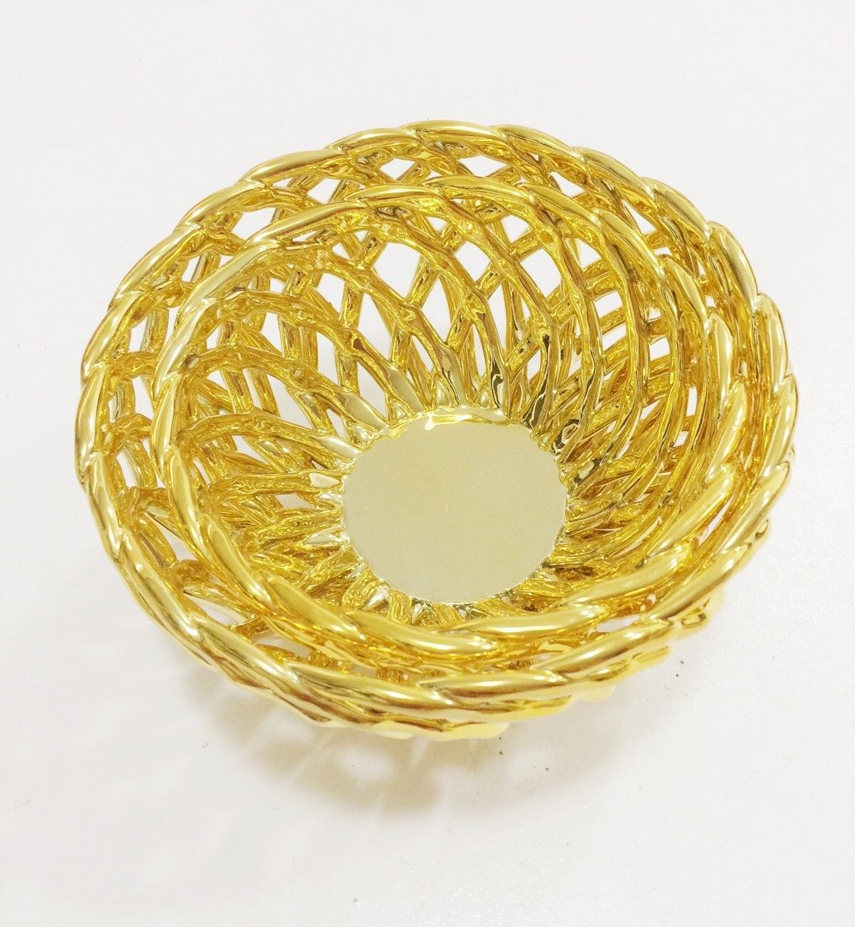 Set of 2 Nesting Gold Bread / Decorative Baskets - Home Decor ...
