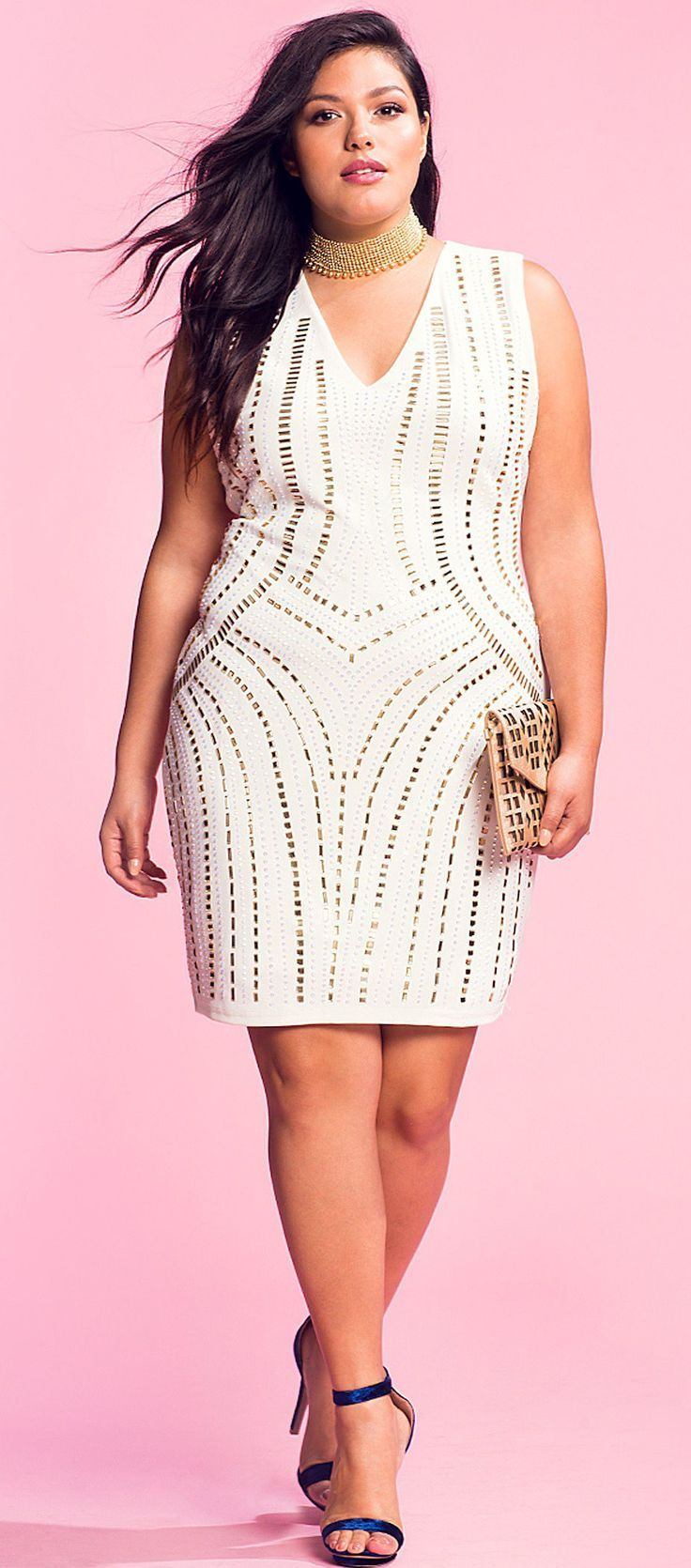 12 Plus Size White Party Dresses | Vale la pena, Él es y Ponerse