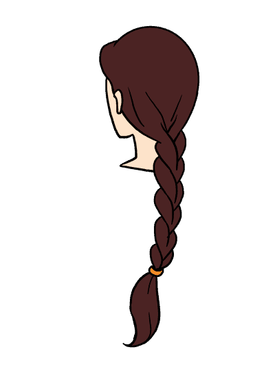 Cartoon Braids : cartoon, braids, Braid, Really, Drawing, Tutorial, Drawings,, Braids,