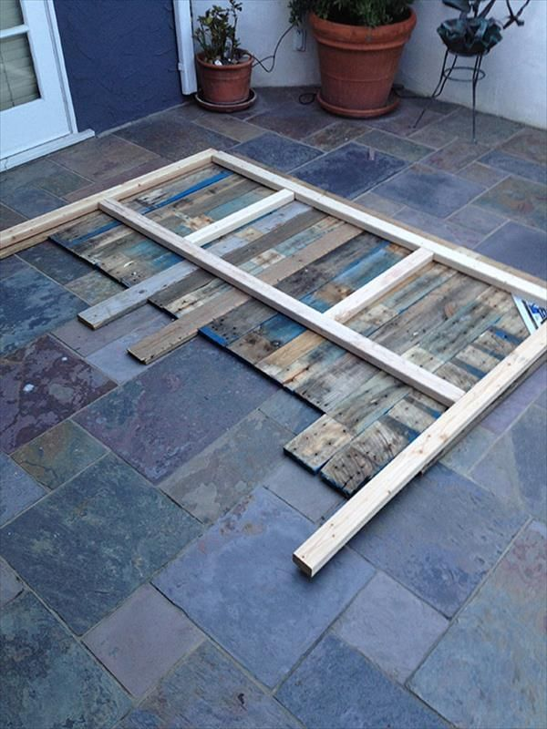 Build A Simple Pallet Headboard For The Home Pinterest Pallets