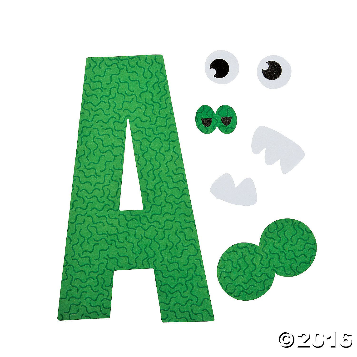 A Is For Alligator Letter A Craft Kit 48 A01