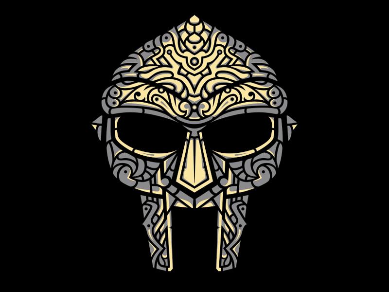 Venomous Villain Stone Colorway Mf Doom Mask Hip Hop Artwork Mf Doom