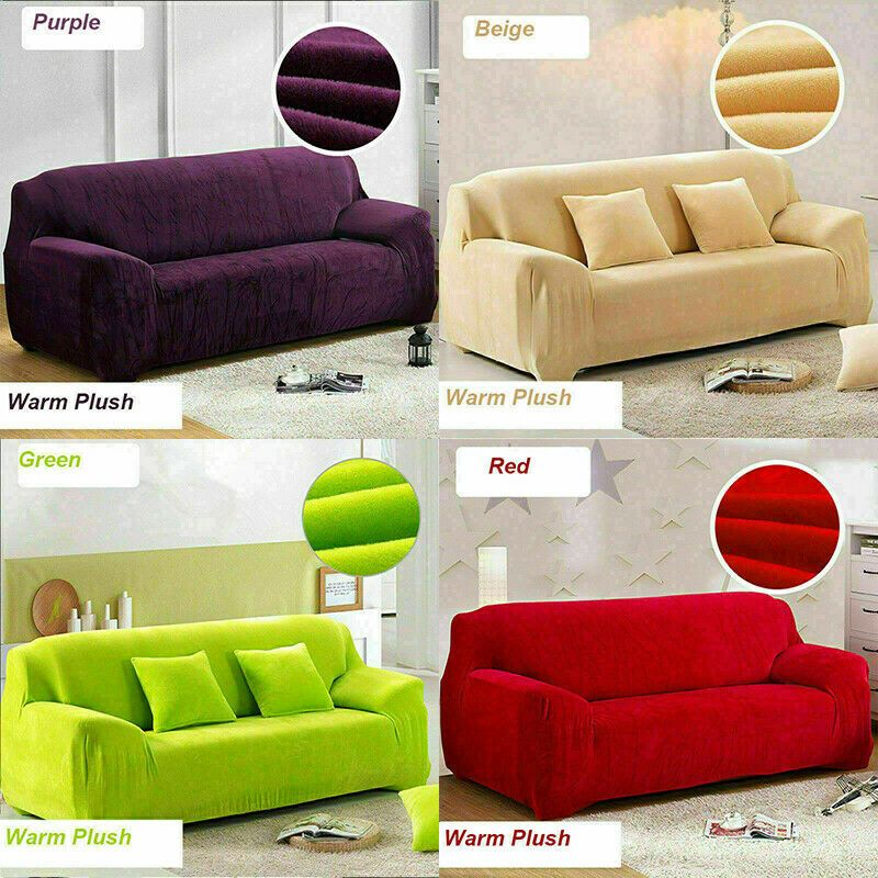 1 2 3 4 Seater Sectional Sofa Covers Couch Plain Elastic Thick Plush Slipcovers Sofa Slipcover Ideas Of Sofa Slip Slipcovered Sofa Couch Prices Sofa Covers