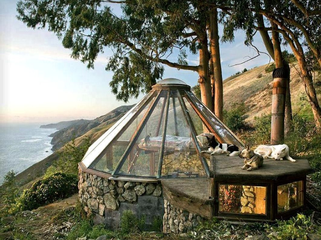 How To Make A Underground House Cabin Porn Big Sur Glass And Architects