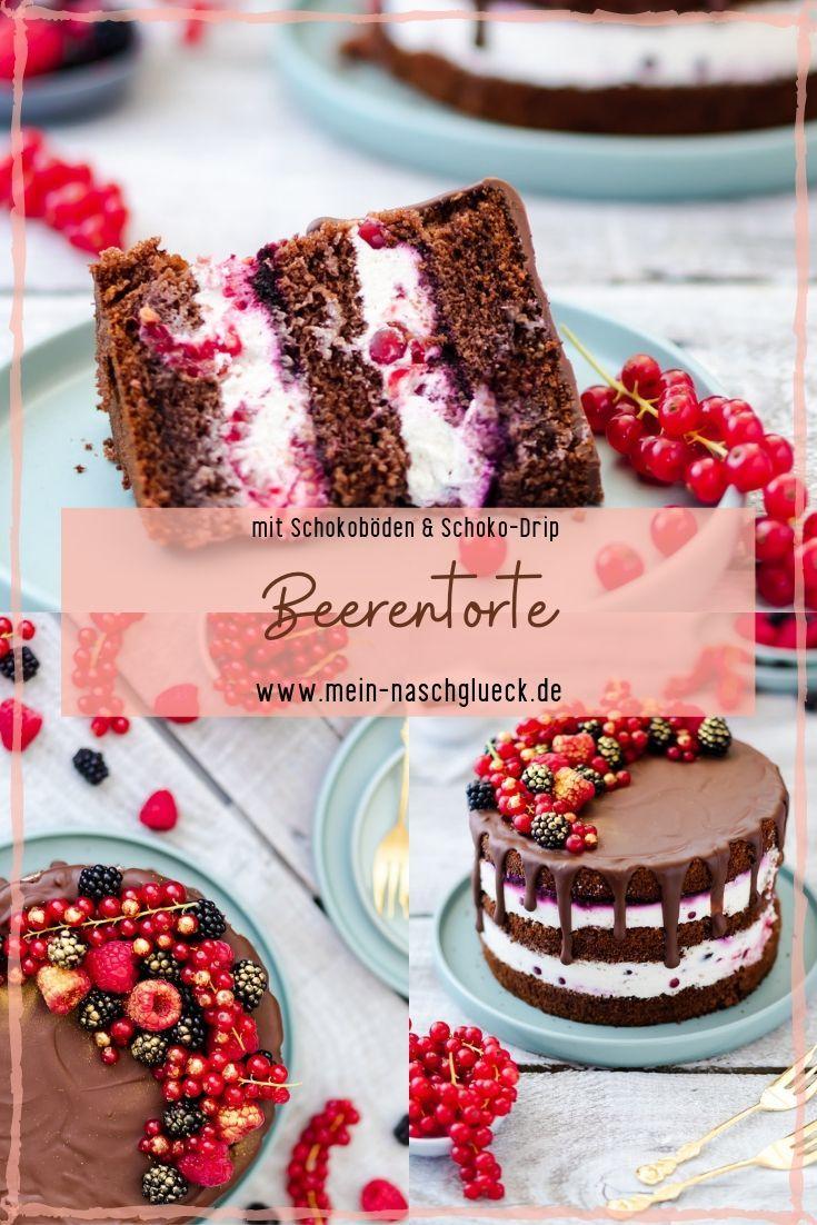Beerentorte Rezept als Drip Cake