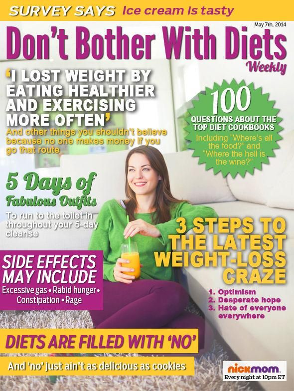 """Check out this week's issue of """"Don't Bother With Diets"""" Magazine."""