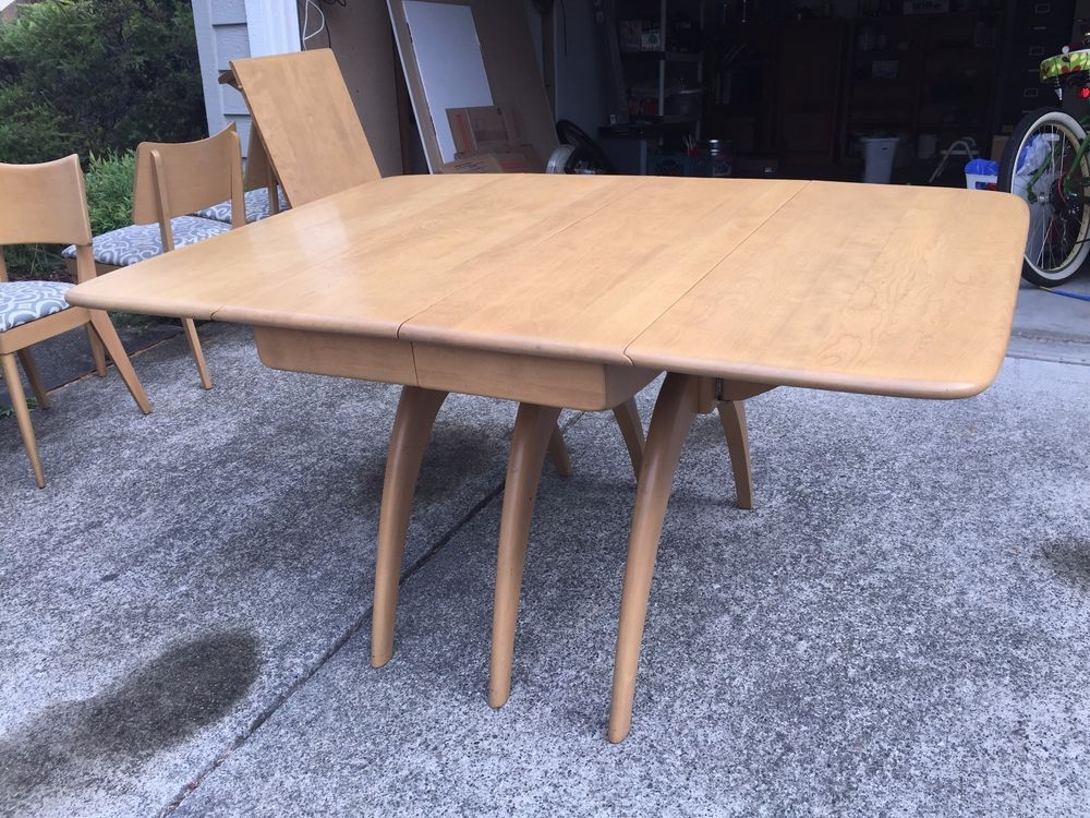 heywood wakefield maple dining table 6 chairs mid century modern rh in pinterest com