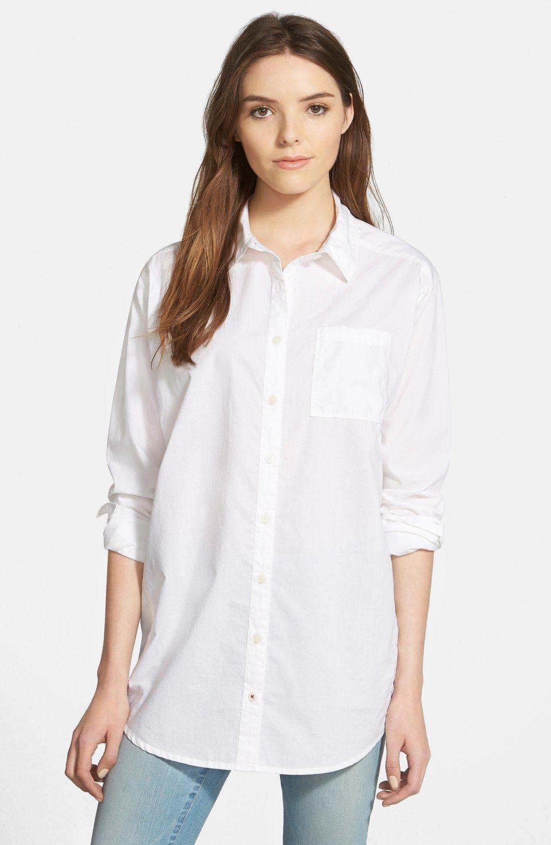Caslon® Boyfriend Shirt (Regular   Petite)  7b4d6981ef