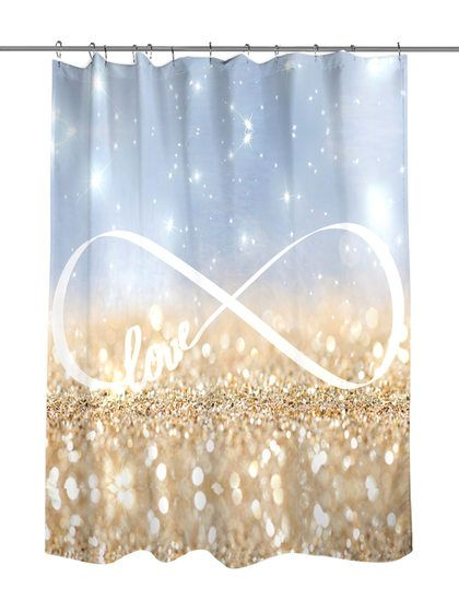 Infinite Love Sign Shower Curtain by Oliver Gal at Gilt