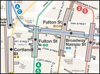 Nyc Street Subway Map.Nyc Fulton Street Transit Center Subway Map Nycsubway
