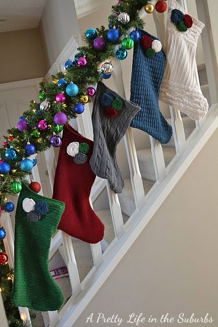 Easy Diy Stockings Out Of Old Sweaters Crafts