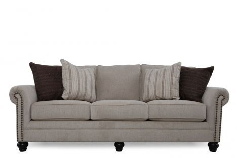 ASH 1300038   Ashley Milari Linen Sofa   Mathis Brothers Furniture $491.95