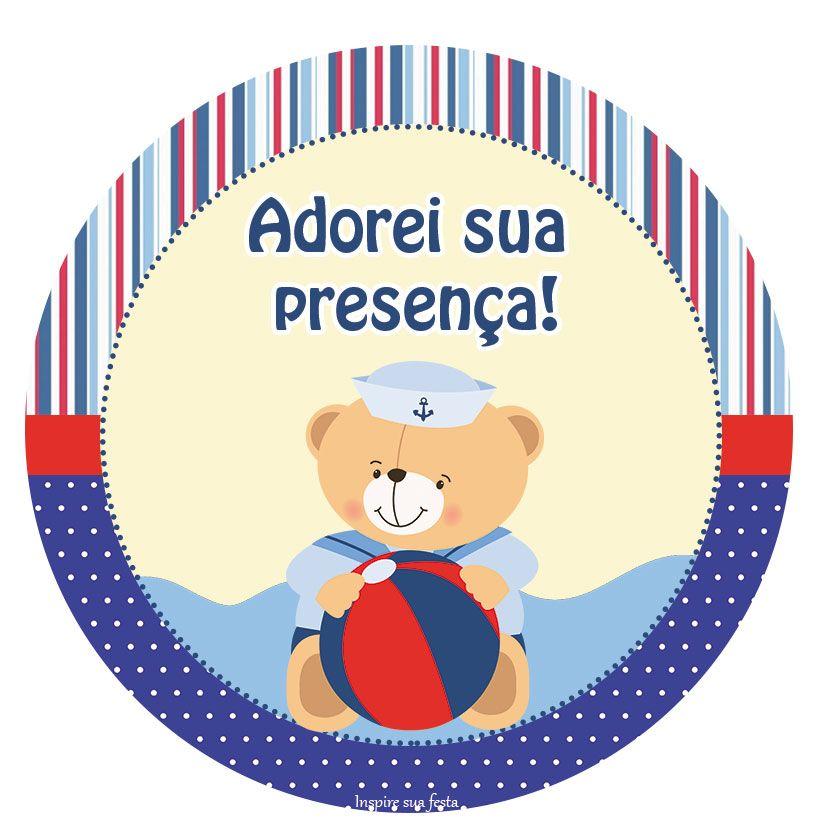 Adesivo De Emagrecimento Funciona ~ Ursinho Marinheiro u2013 Kit festa grátis para imprimir Inspire sua festa Ursinho Marinhe