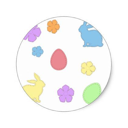 Easter patches classic round sticker kids stickers gift idea diy easter patches classic round sticker kids stickers gift idea diy decor birthday sticker children christmas negle Images