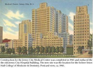 the old jersey city medical center was located at 50 baldwin ave in