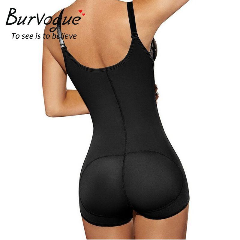 cbb07bc6dc38b Burvogue 2016 Open Crotch Shaper Waist Control Underwear Hot Shaper Trainer Butt  Lifter Latex Zipper Body