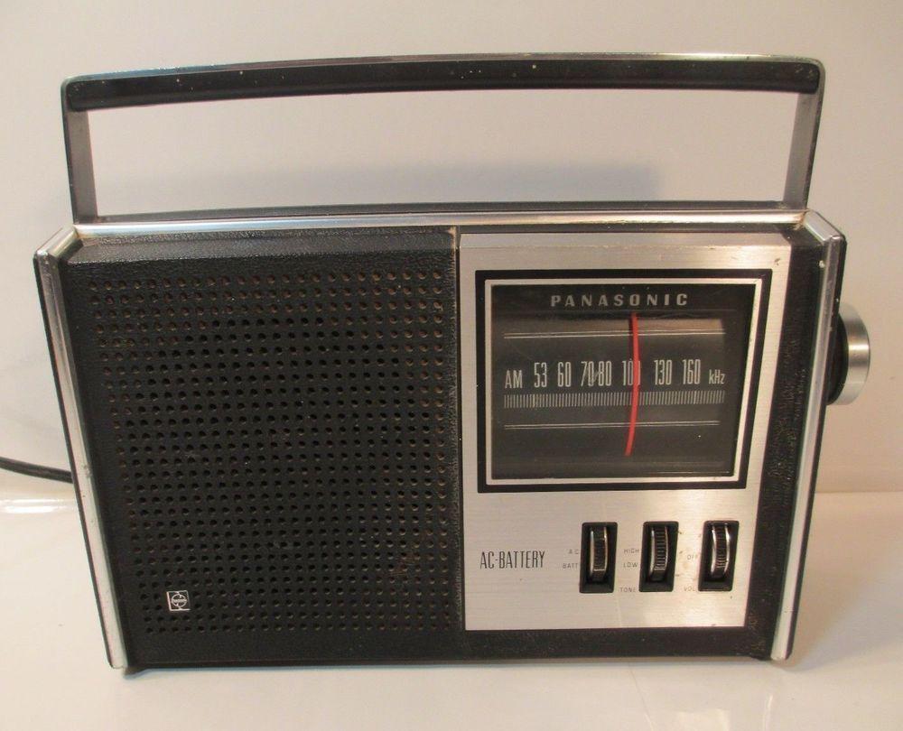 Vintage 1973 Panasonic Am Portable Transistor Radio Model R 1551 Free Ship Works Panasonic Transistor Radio Radio Vintage Radio