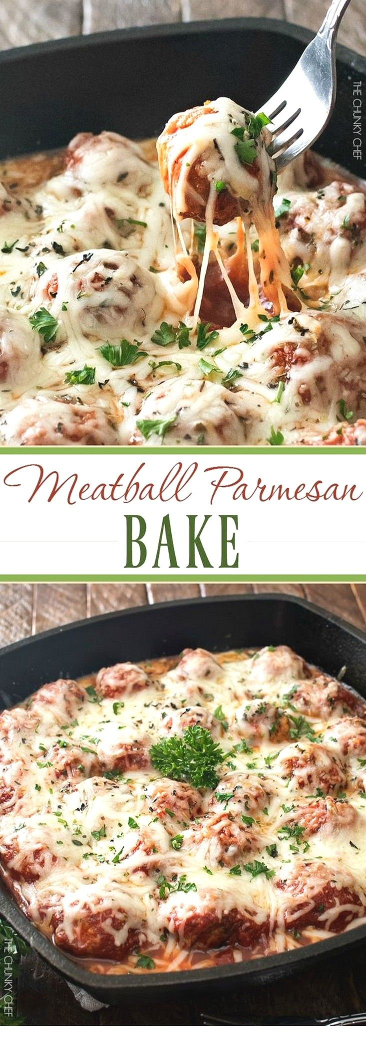 Photo of Meatball Parmesan Bake | Easy Beef Recipes Ideas