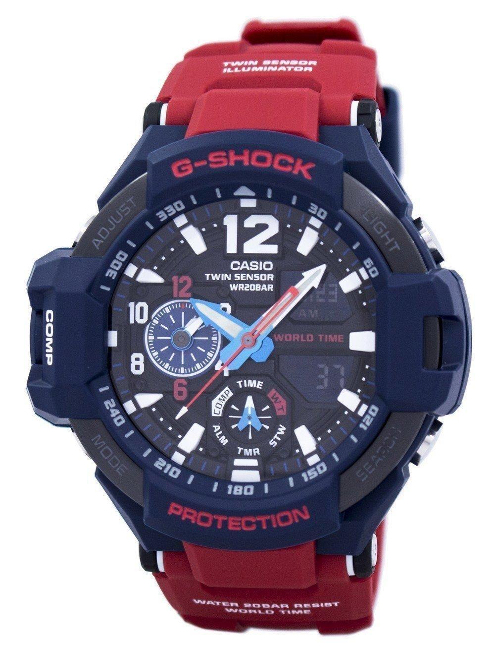 482da82c7b34 Casio G-shock Gravitymaster Shock Resistant World Time Ga-1100-2a Men s  Watch (FREE Shipping)