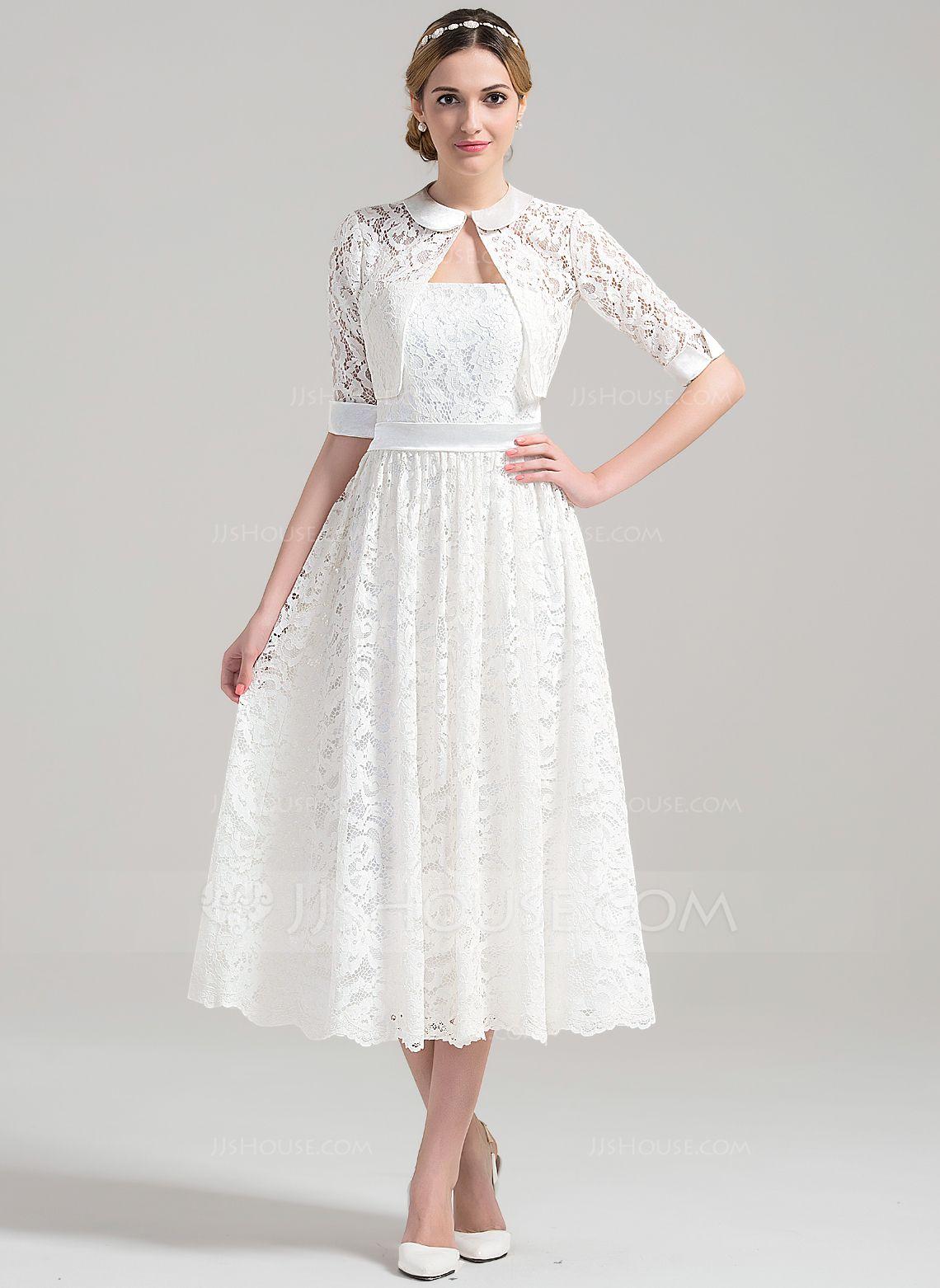 [£ 115.00] ALine/Princess Strapless TeaLength Lace