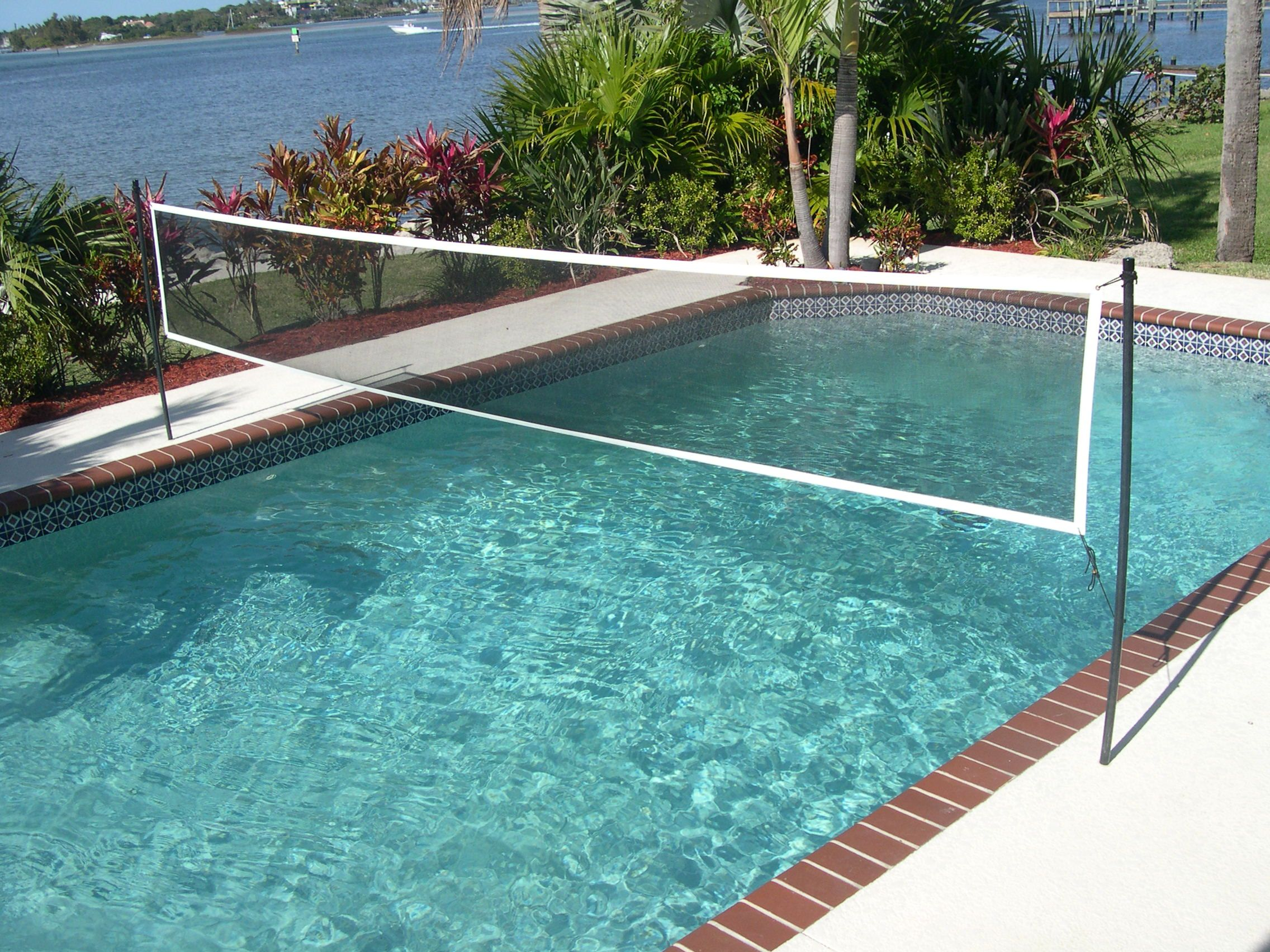 Volleyball net or the swimming pool yes it as much fun as you think for Replacement volleyball net for swimming pool