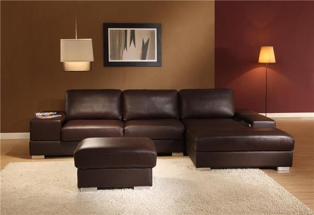 Best Sectionals Modern New York Brown Leather Sectional Sofa 640 x 480