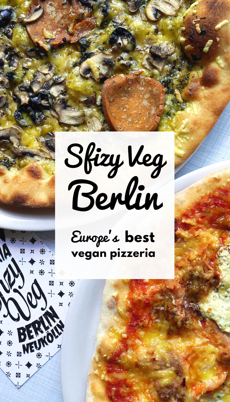 The vegan pizza at Sfizy Veg is one of the best we've ever tried and unlike any other vegan restaurant in Berlin - so we returned three times in two weeks!