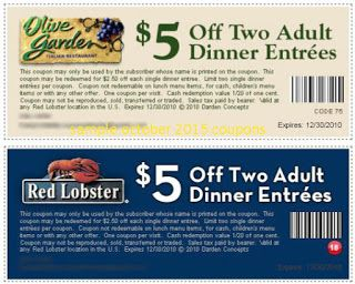 Free Printable Coupons Olive Garden Coupons Olive Garden Coupons Red Lobster Coupons Red Lobster