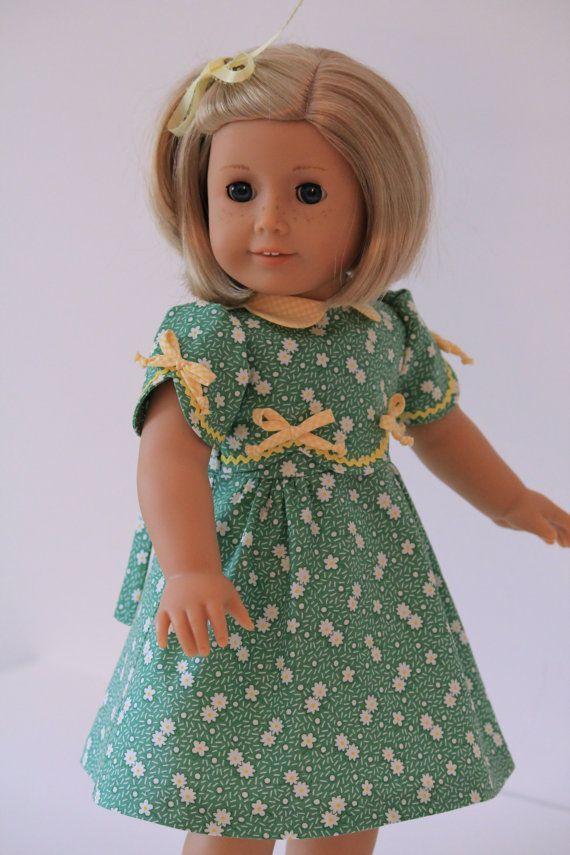 American Girl dolls Kit 1930\'s | 1930\'s Frock for American Girl doll ...