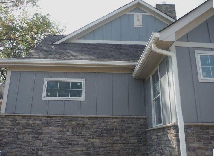 James Hardie Slate Gray White Exterior Houses Exterior House Colors Wood Siding Exterior