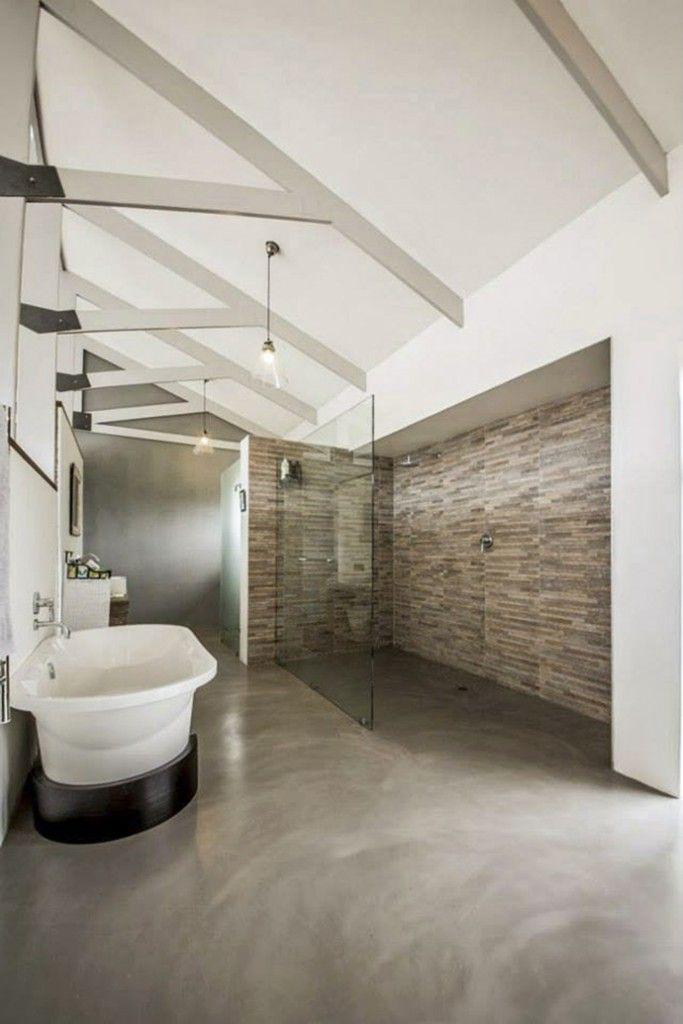 Unfinished Basement Bathroom Ideas Concrete Floors