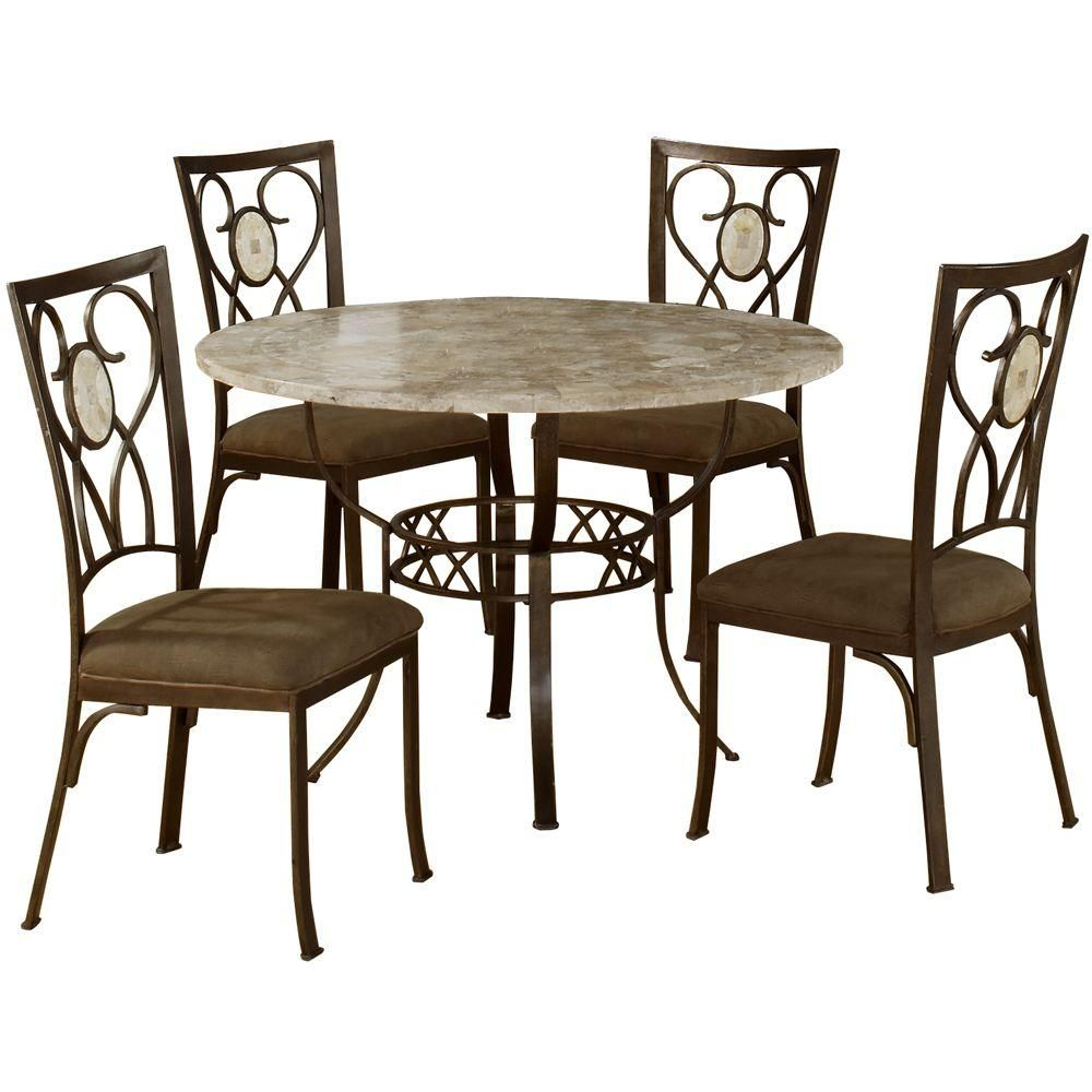 Hillsdale Furniture Brookside 5-Piece Round Dining Set