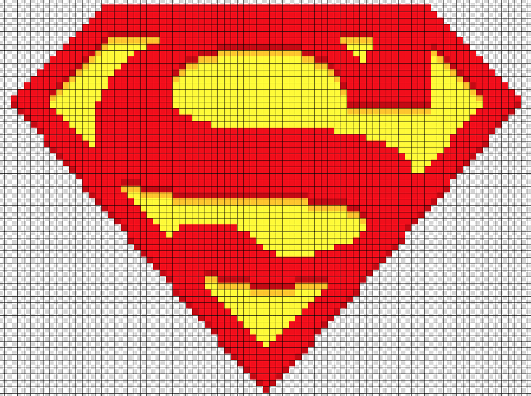 Superman Logo Perler Bead Pattern By Kyle Mccoy Pattern