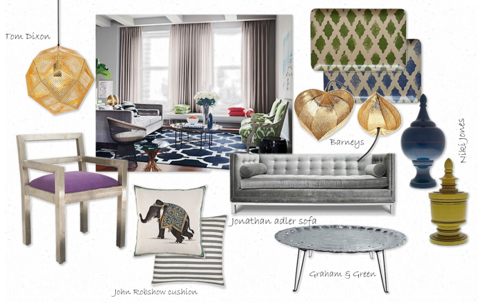 Interior Design Concept Board 1 | CHRISTOPHER JAMES INTERIORS