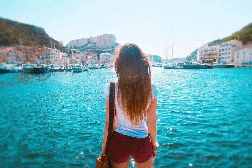 фото,Корсика,порт,вода,девушка | Смешно
