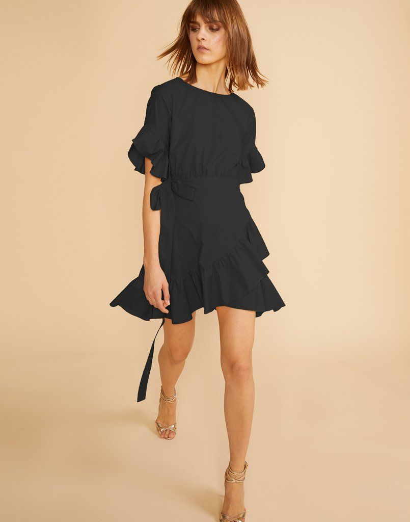 bc2b24d64 Black Wallflower Ruffle Wrap Dress | LCD's (little cute dresses ...