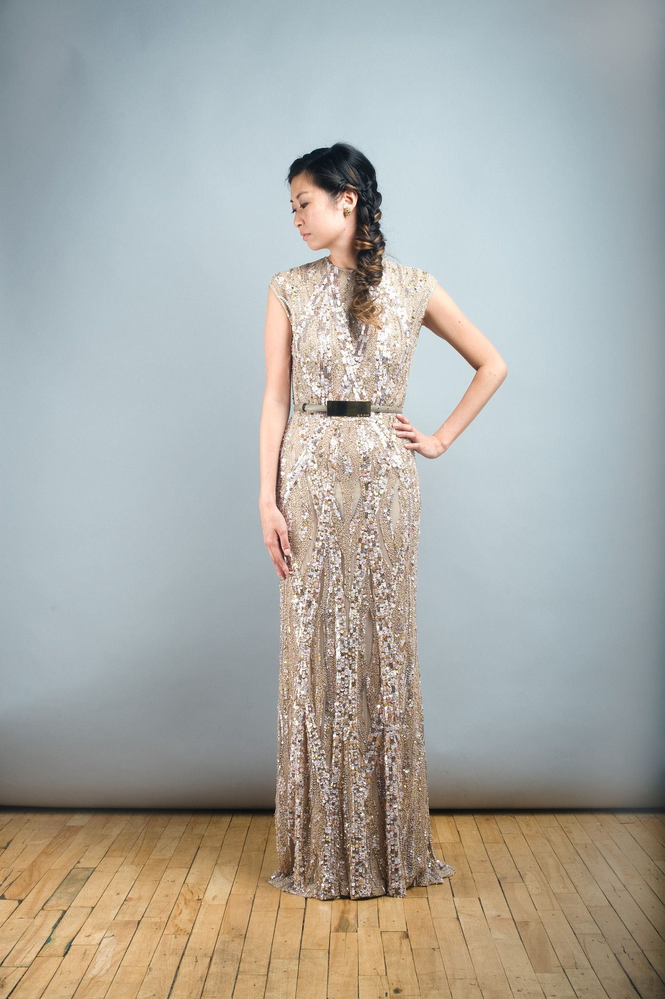Sequined wedding dress   Reasons To Go For Gold When It Comes To Wedding Dresses  Wedding
