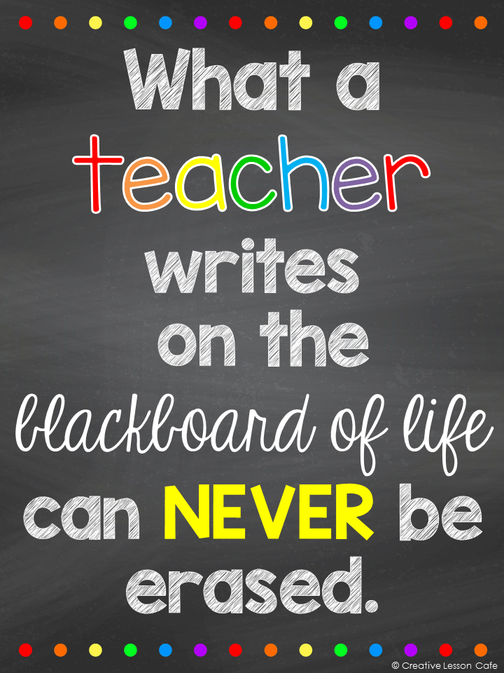 Freebie- Inspirational Posters for Teachers Creative Lesson Cafe ...